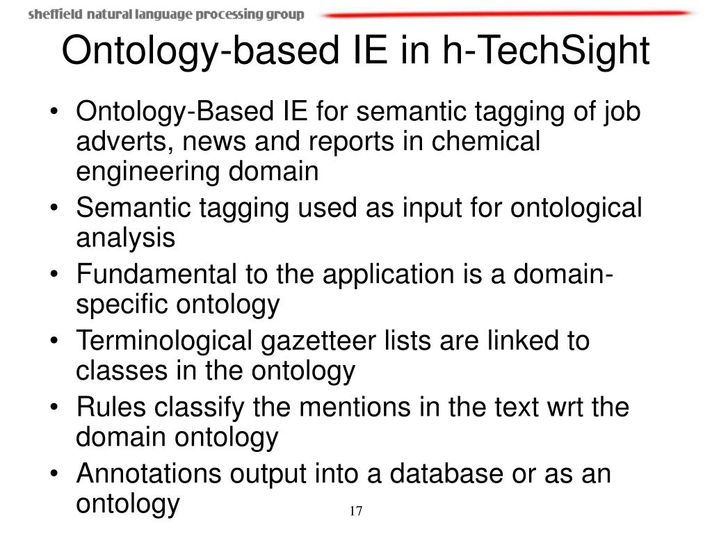 Ontology-Based IE for semantic tagging of job adverts, news and reports in chemical engineering domain