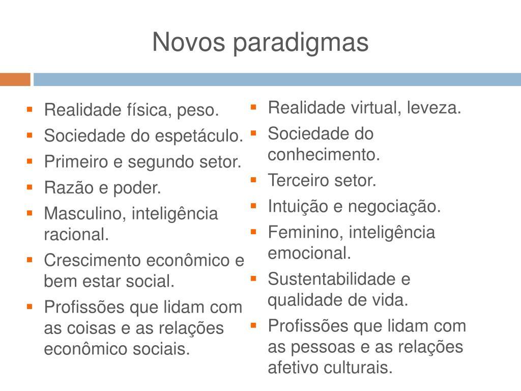 Novos paradigmas