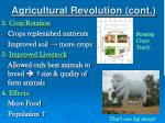 agricultural revolution cont