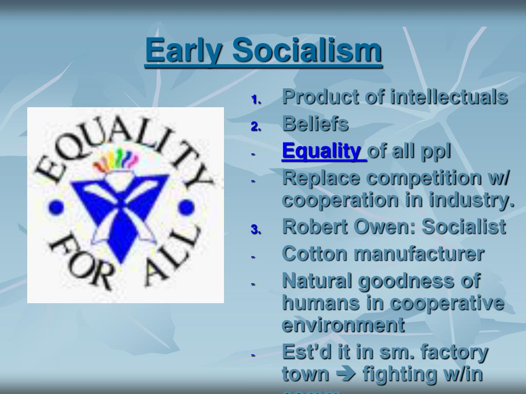 Early Socialism