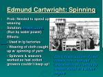 edmund cartwright spinning