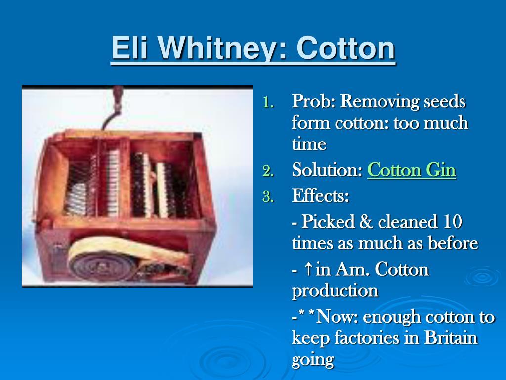 Eli Whitney: Cotton