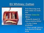 eli whitney cotton