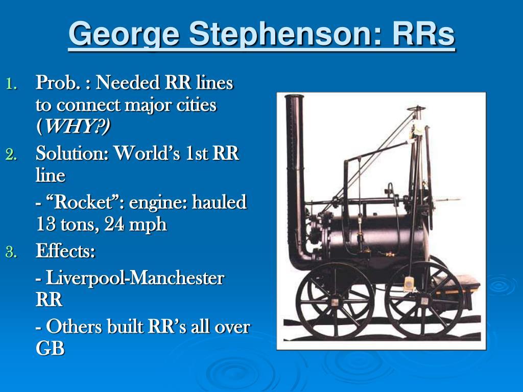George Stephenson: RRs