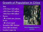 growth of population in cities