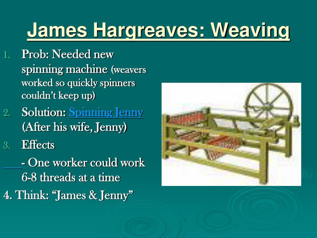 James Hargreaves: Weaving