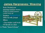 james hargreaves weaving