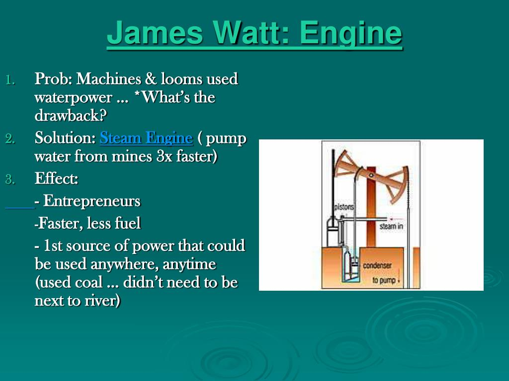 James Watt: Engine