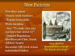 new factories
