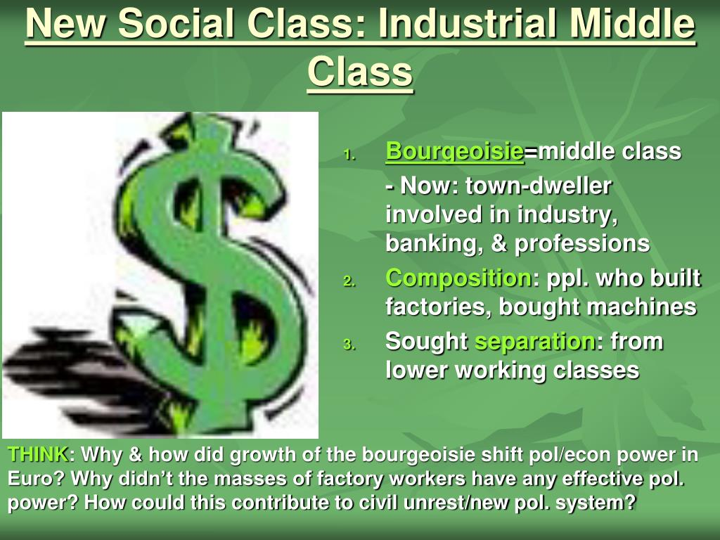 New Social Class: Industrial Middle Class