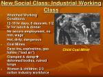 new social class industrial working class