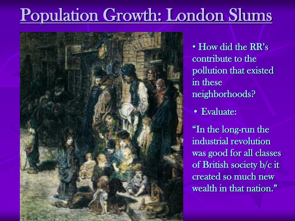 Population Growth: London Slums