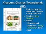 viscount charles townshend agr