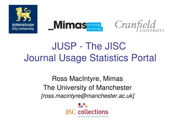 Jusp the jisc journal usage statistics portal l.jpg