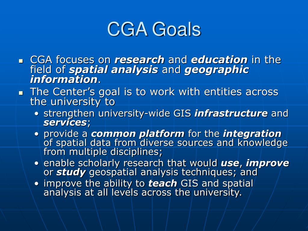 CGA Goals