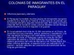 colonias de inmigrantes en el paraguay