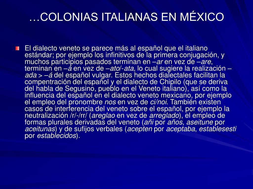 …COLONIAS ITALIANAS EN MÉXICO