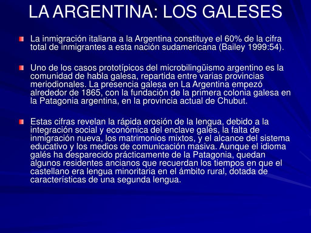 LA ARGENTINA: LOS GALESES