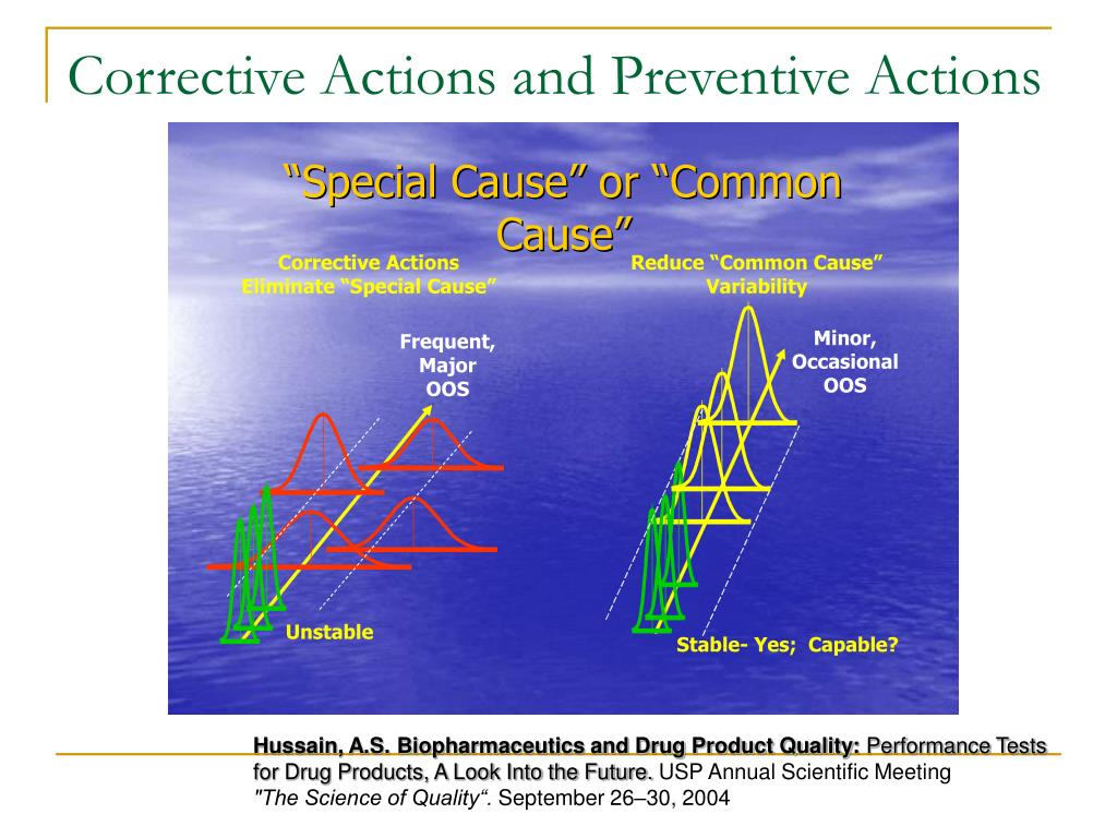 Corrective Actions and Preventive Actions