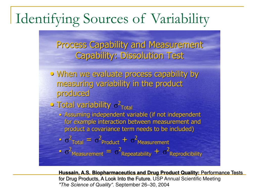 Identifying Sources of Variability