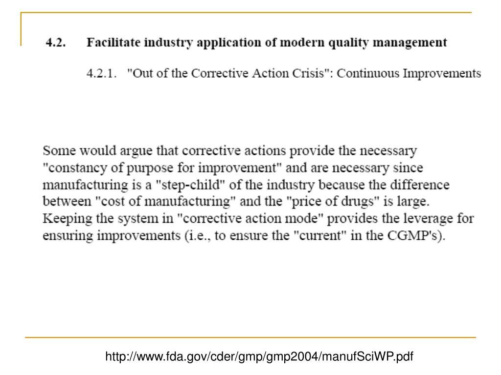 http://www.fda.gov/cder/gmp/gmp2004/manufSciWP.pdf