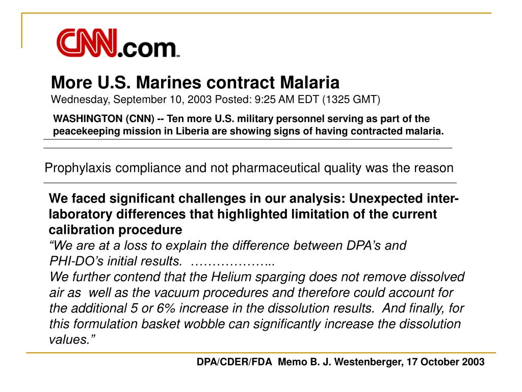 More U.S. Marines contract Malaria