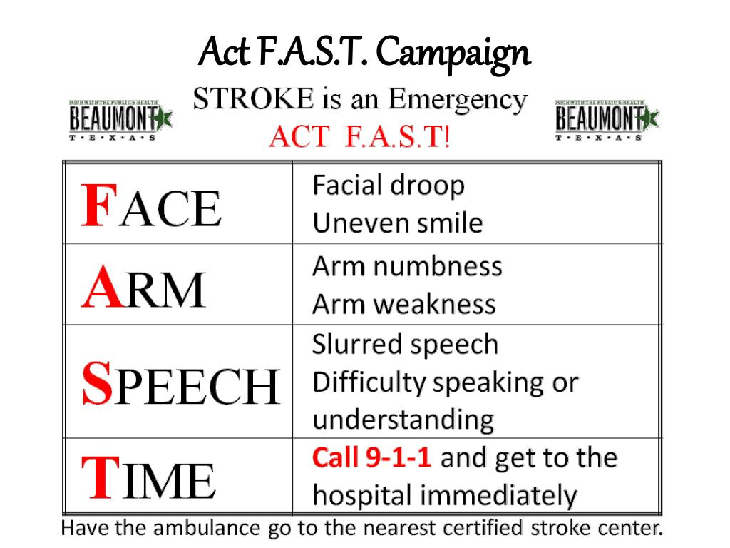 Act F.A.S.T. Campaign