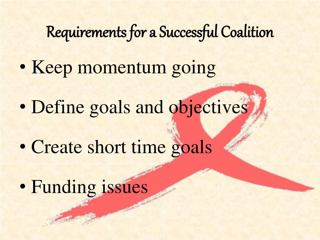 Requirements for a Successful Coalition