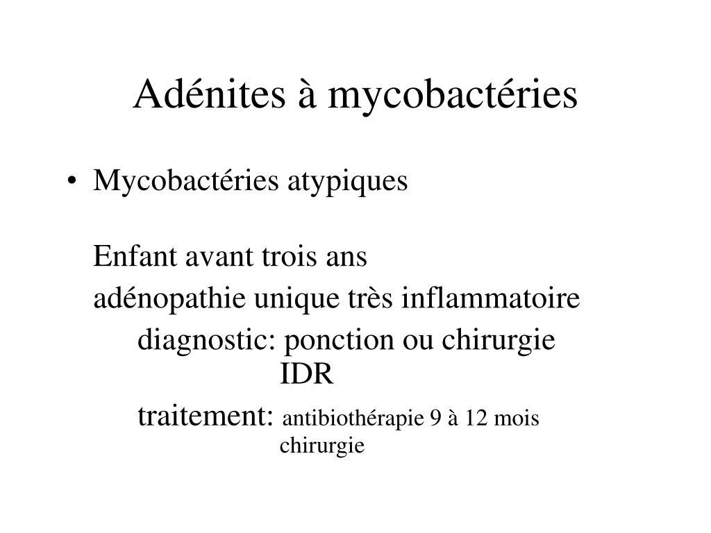 Adénites à mycobactéries