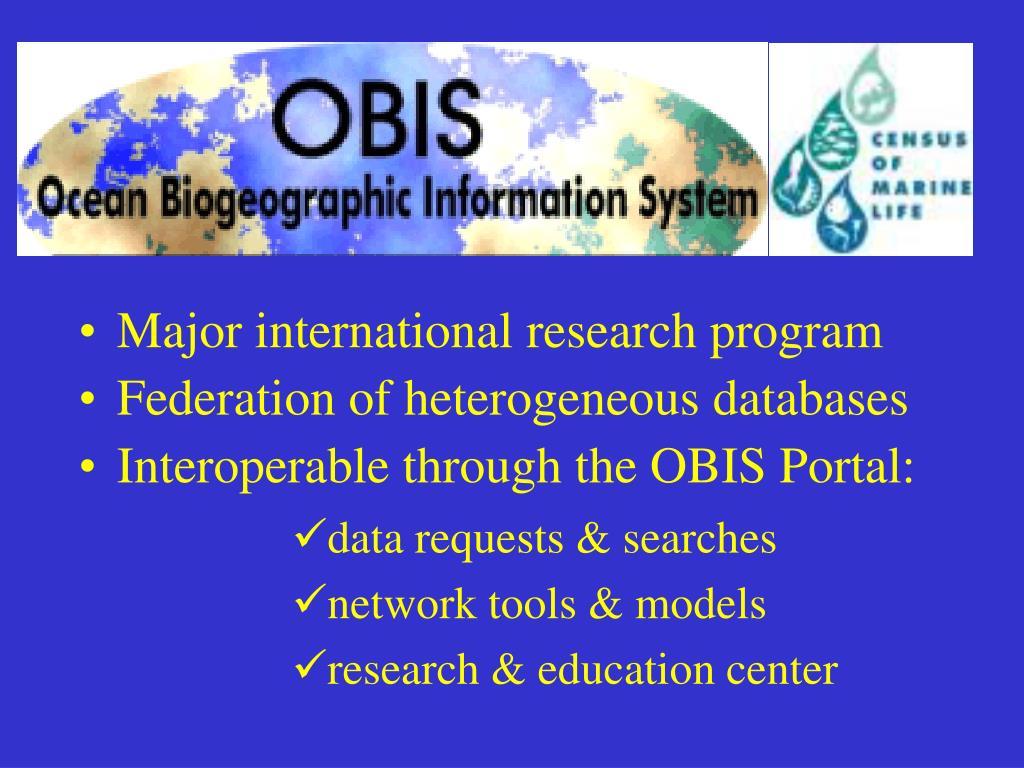 Major international research program