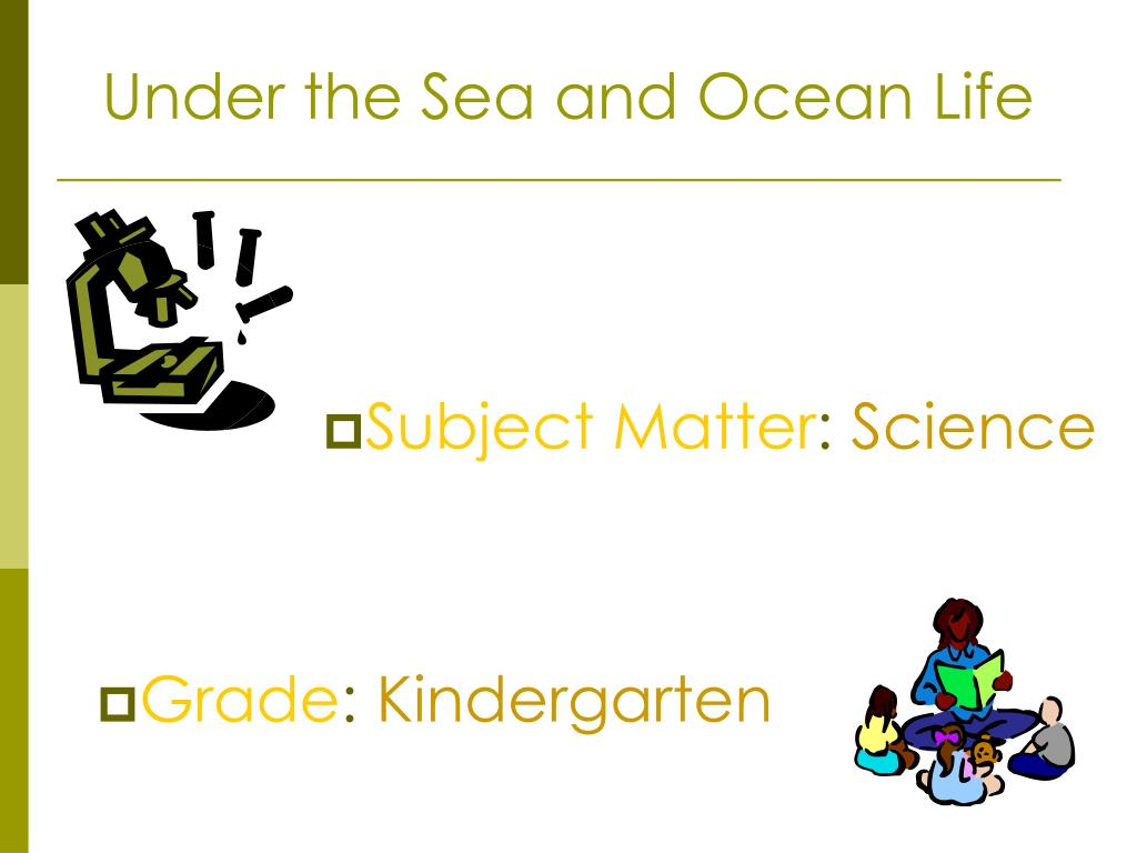 Under the Sea and Ocean Life
