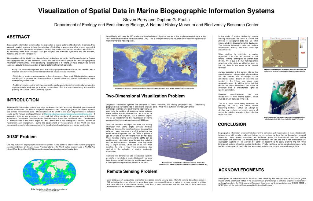 Visualization of Spatial Data in Marine Biogeographic Information Systems