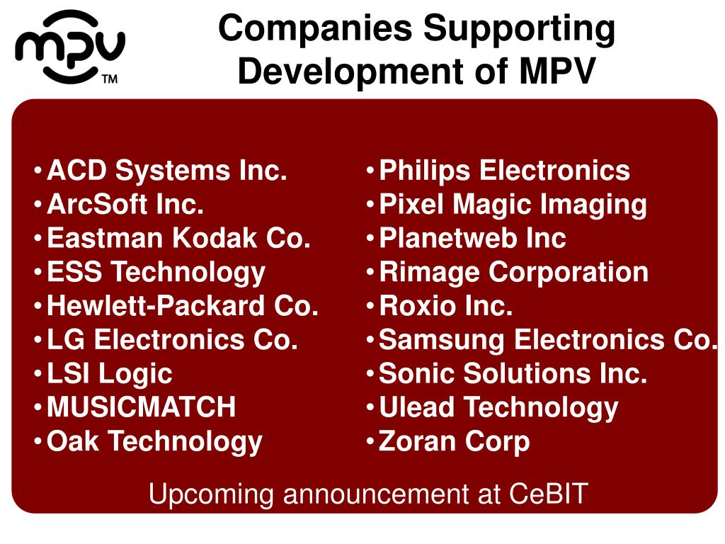 Companies Supporting