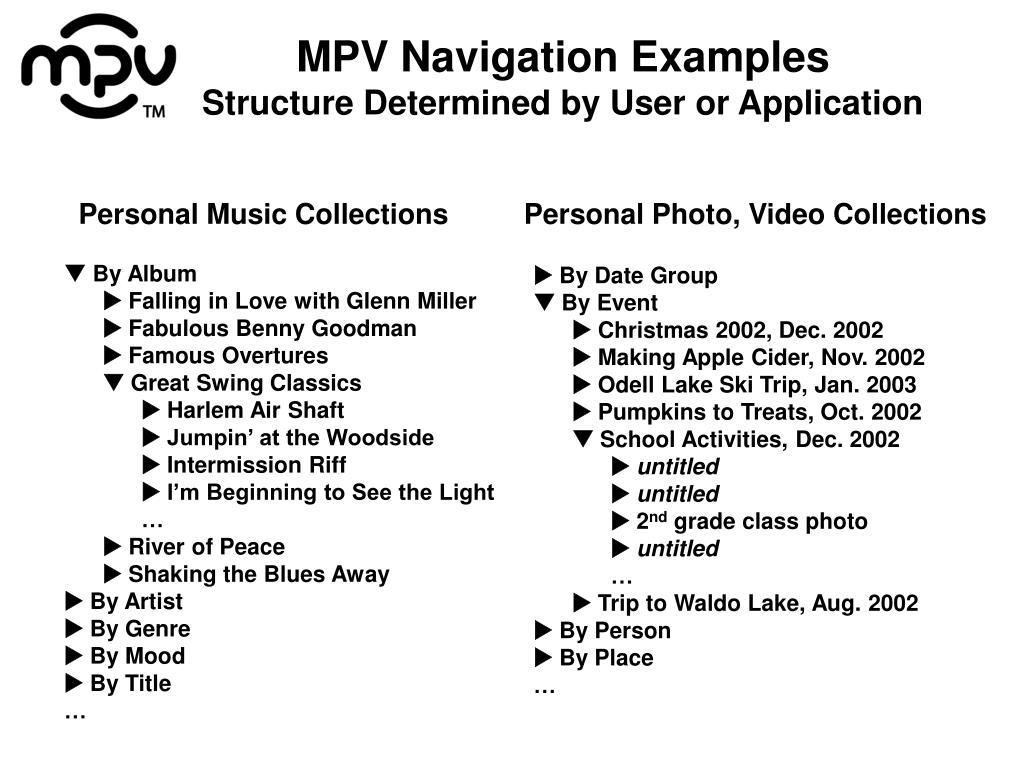 MPV Navigation Examples