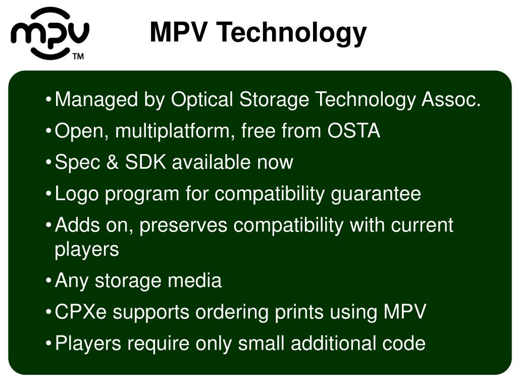 Managed by Optical Storage Technology Assoc.