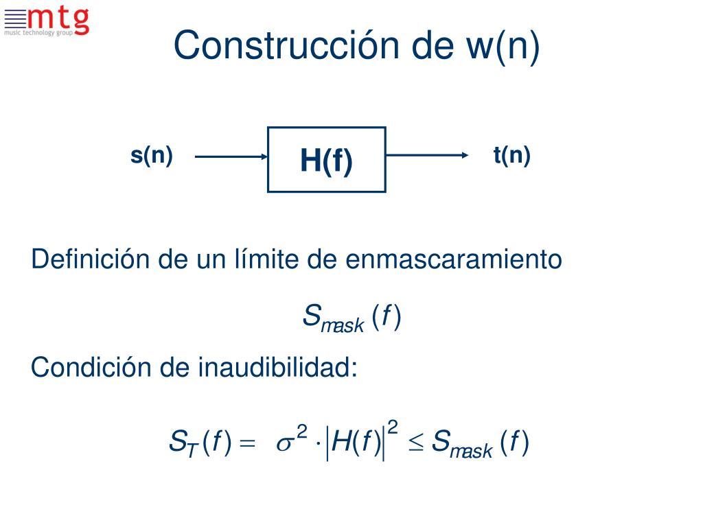 Construcción de w(n)