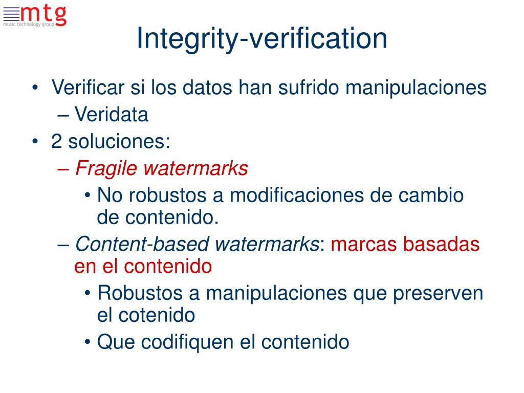 Integrity-verification