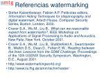 referencias watermarking