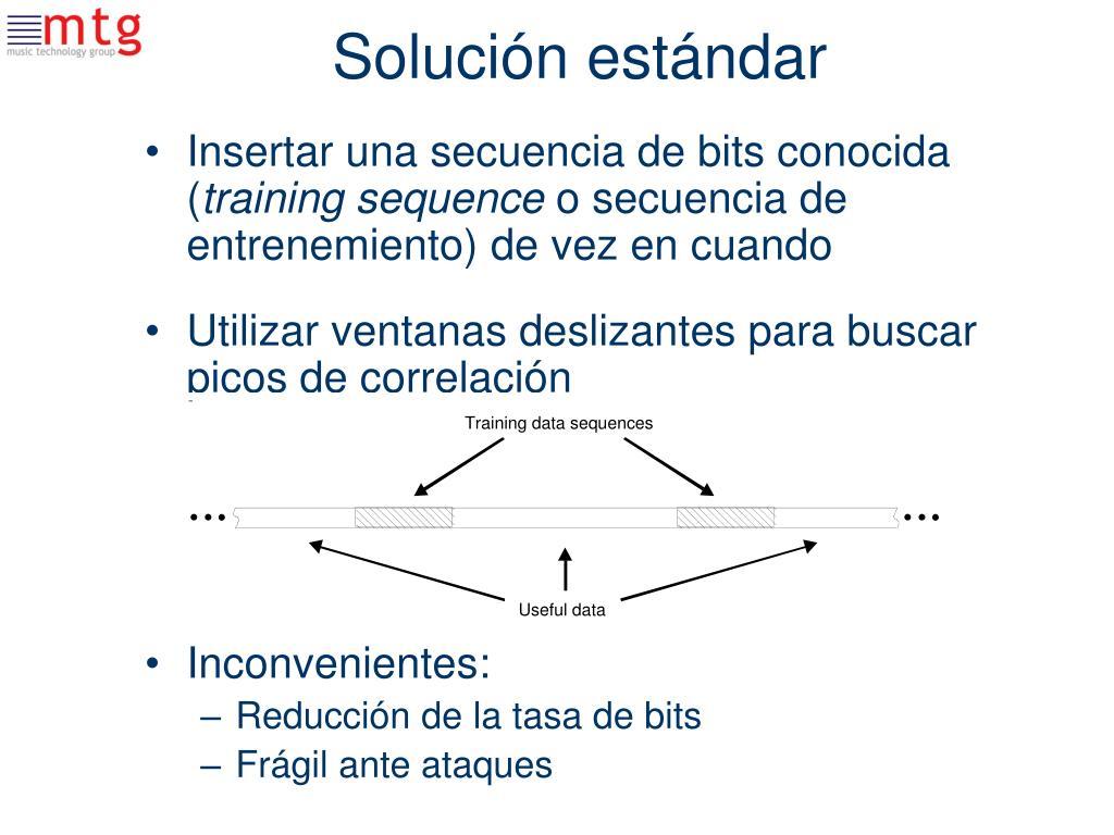 Solución estándar
