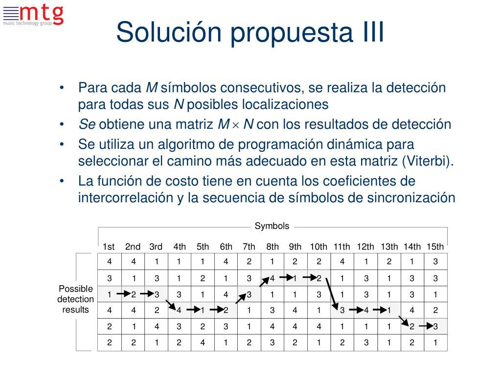 Solución propuesta III