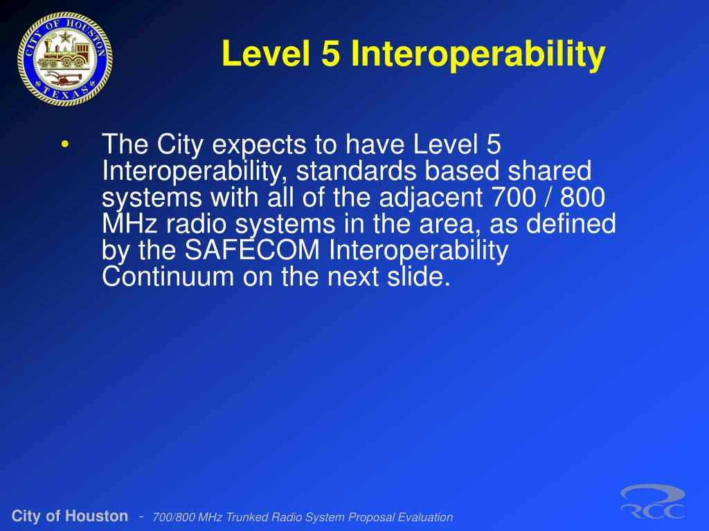 Level 5 Interoperability