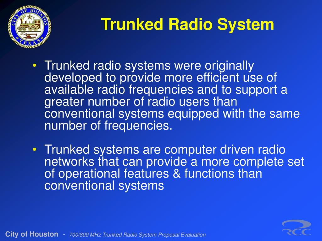 Trunked Radio System