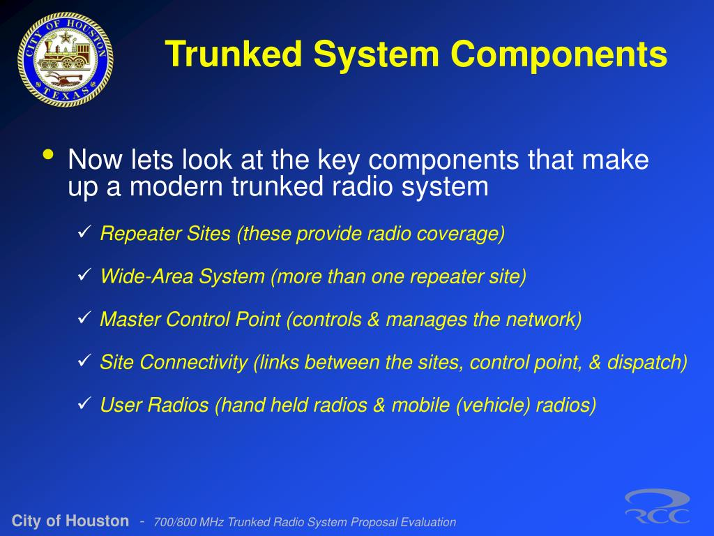 Trunked System Components
