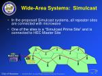 wide area systems simulcast