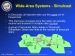 wide area systems simulcast30