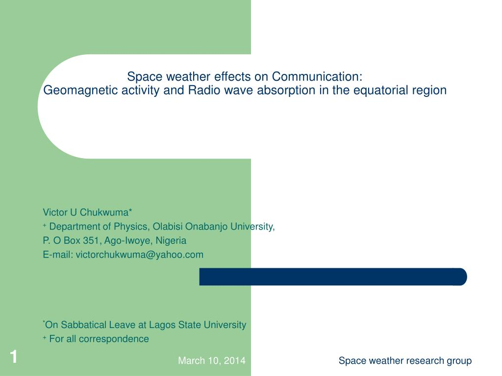 Space weather effects on Communication: