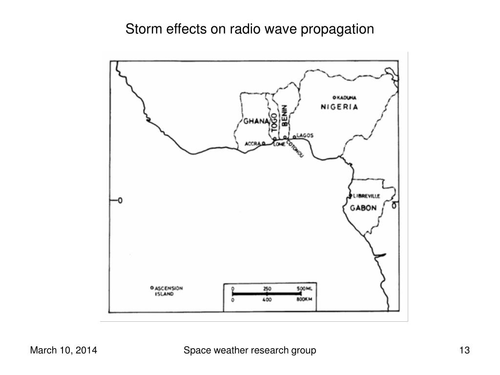 Storm effects on radio wave propagation