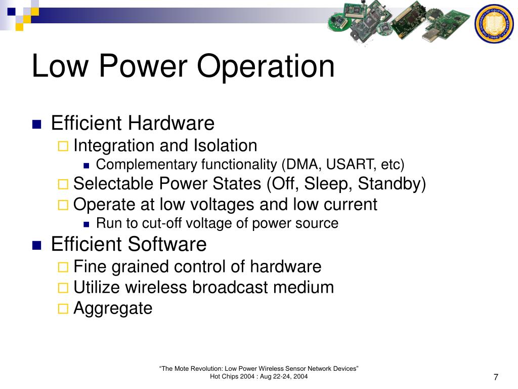 Low Power Operation