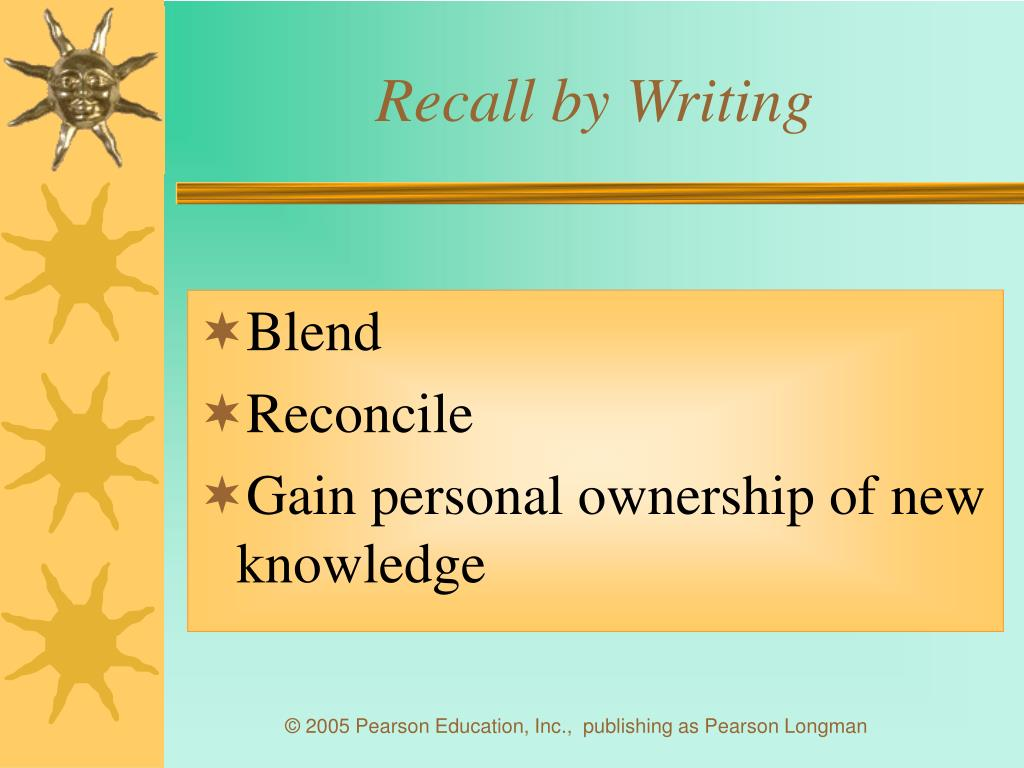 Recall by Writing