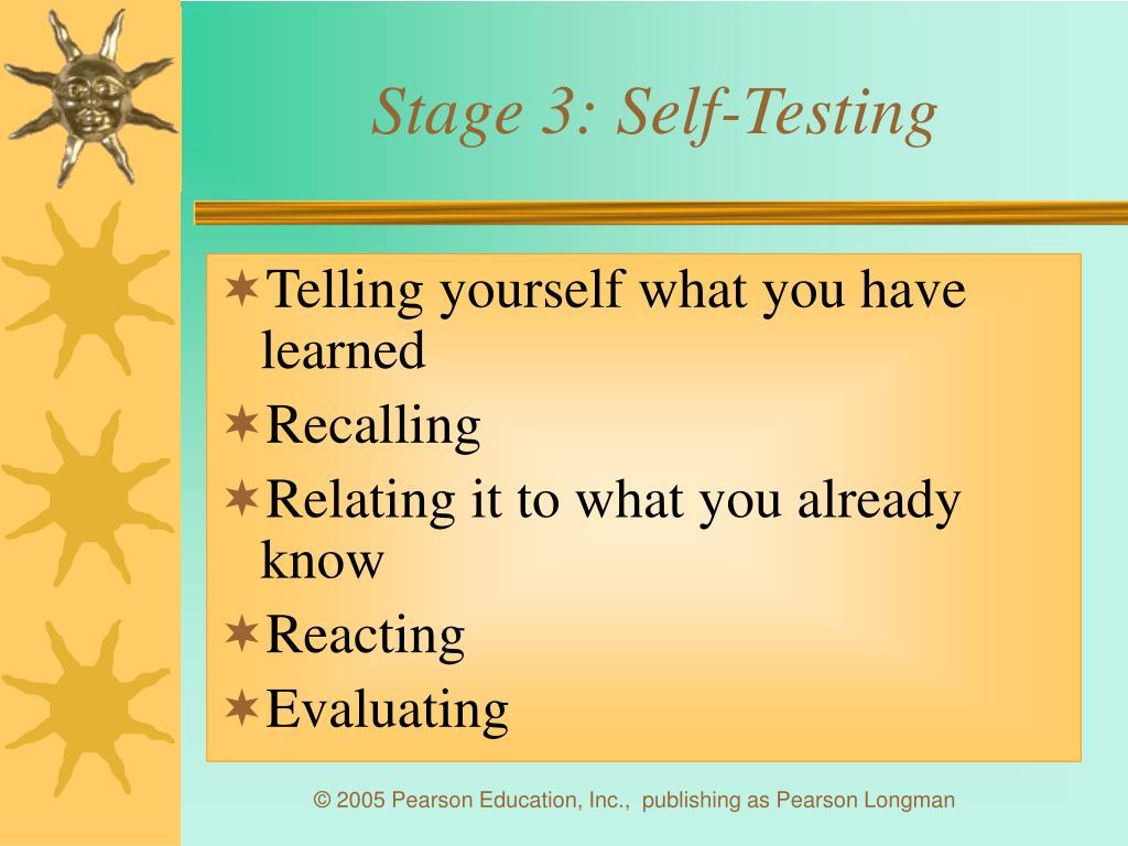 Stage 3: Self-Testing